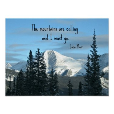 The mountains are calling... print