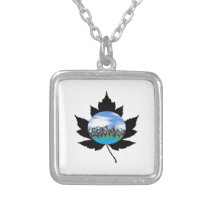 The Mountains are Calling Silver Plated Necklace