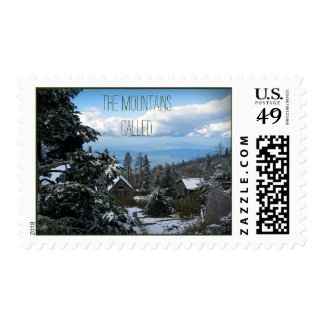 The Mountains Called… Rustic Cabins Stamp
