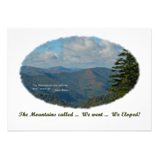 The Mountains Called / We Eloped Announce & Invite
