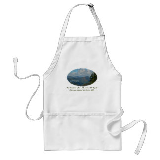 The Mountains Called / We Went / We Eloped! Adult Apron