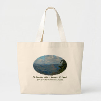 The Mountains Called / We Went / We Eloped! Large Tote Bag
