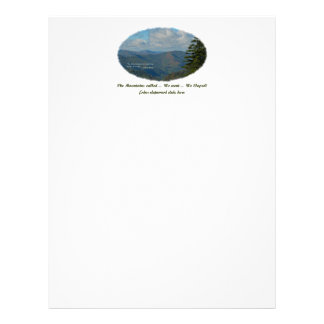 The Mountains Called / We Went / We Eloped! Letterhead