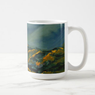 the Mountains in Sunset Mug