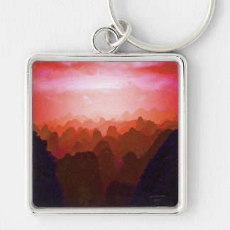 The Mountians of China Keychain