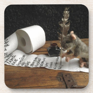 """The Mouse and ago """"tons of DO cunning """" Beverage Coaster"""