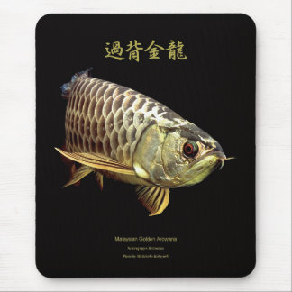 "The mouse pad of Asian Arowana ""Goleden Type"", No."