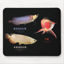 The mouse pad of Asian Arowana of 3 types