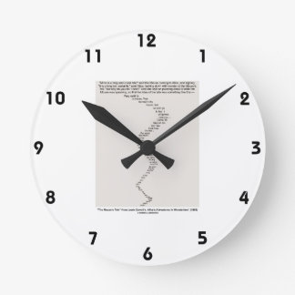 The Mouse's Tale by Lewis Carroll Wonderland Round Clock
