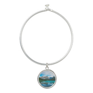 The Moutains and Blue Water Bangle Bracelet