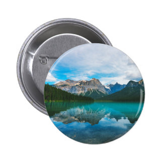 The Moutains and Blue Water Pinback Button