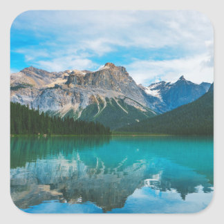 The Moutains and Blue Water Square Sticker
