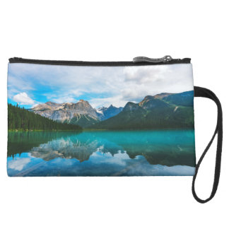 The Moutains and Blue Water Suede Wristlet