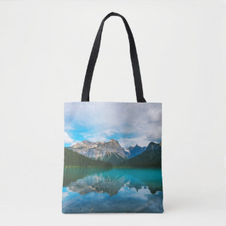 The Moutains and Blue Water Tote Bag