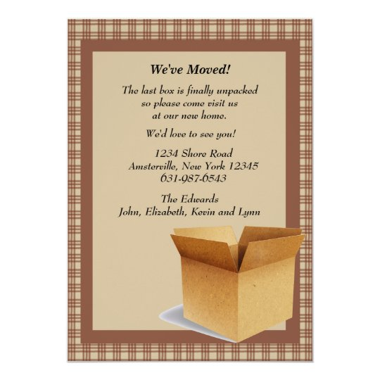The Moving Box - Moving Announcement
