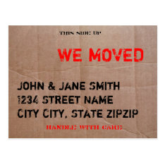 The Moving Box Postcard at Zazzle