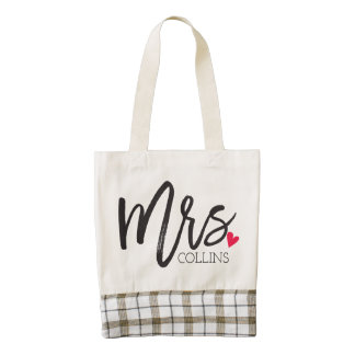 The Mrs. Shoppe | Personalized Mrs. Zazzle HEART Tote Bag