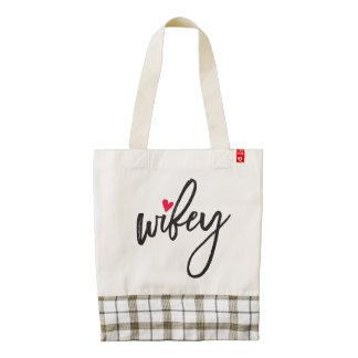 The Mrs. Shoppe | Wifey Zazzle HEART Tote Bag