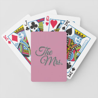 The Mrs with Bling! Bicycle Playing Cards