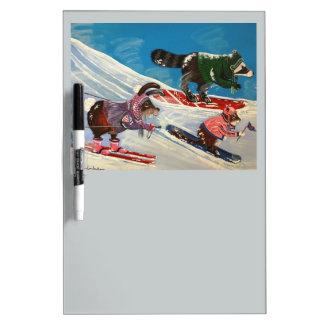 The Ms. Elizabeth Ski Team Dry Erase Board