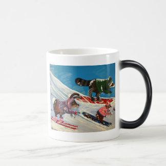 The Ms. Elizabeth Ski Team 11 Oz Magic Heat Color-Changing Coffee Mug