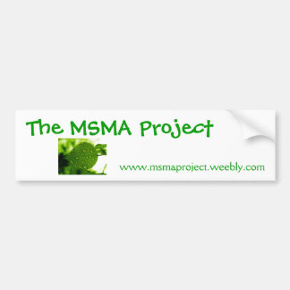 the msma project bumber sticker car bumper sticker