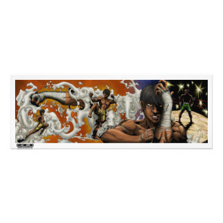 The muay thai man photo art