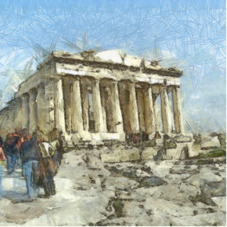 The much visited Acropolis Cutout
