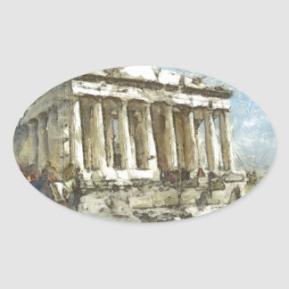 The much visited Acropolis Oval Sticker