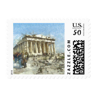 The much visited Acropolis Postage