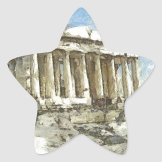 The much visited Acropolis Star Sticker