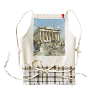 The much visited Acropolis Zazzle HEART Apron