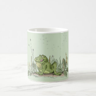 The mug with funny green frog picture