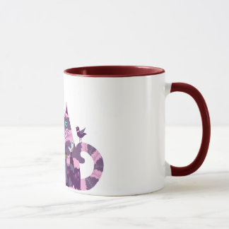 The mug with funny striped cats and birds picture