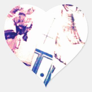 The muggys heart sticker