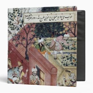 The Mughal Emperor Babur 3 Ring Binder