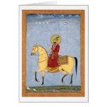The Mughal Emperor Farrukhsiyar(1683-1719) (r.1713 Greeting Card