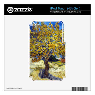 The Mulberry Tree. Vincent Van Gogh. Fmous art. Decals For iPod Touch 4G