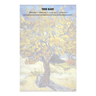 The Mulberry Tree. Vincent Van Gogh. Fmous art. Stationery