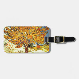 The Mulberry Tree, Vincent van Gogh. Vintage art Luggage Tag