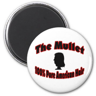 The Mullet 100% Pure American Hair 2 Inch Round Magnet