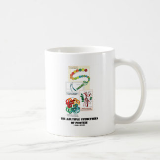The Multiple Structures Of Protein Classic White Coffee Mug