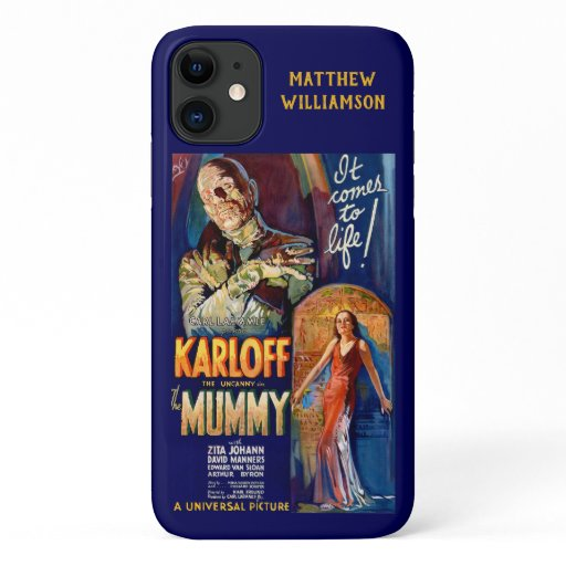The Mummy Classic Karloff Horror Movie Poster iPhone 11 Case
