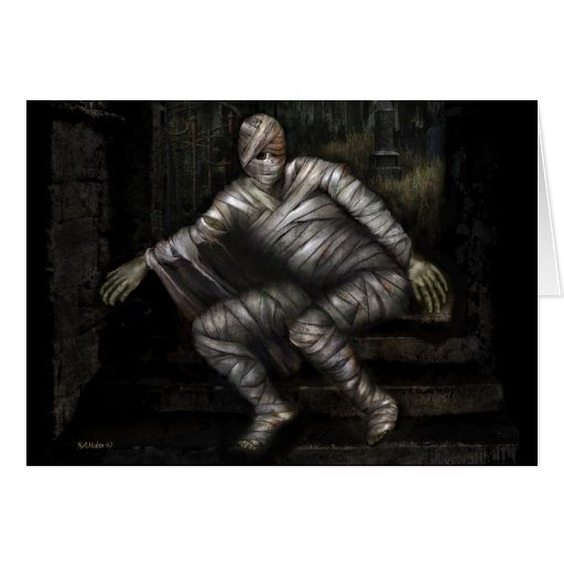 The Mummy Creeps Halloween Card