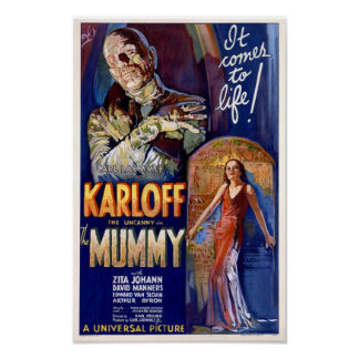 The Mummy Poster with Boris Karloff from 1932