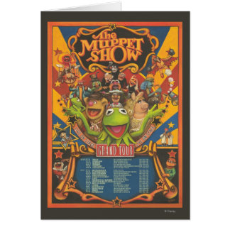 The Muppet Show - Grand Tour Poster Card