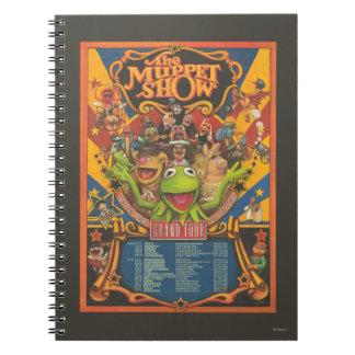 The Muppet Show - Grand Tour Poster Spiral Notebook