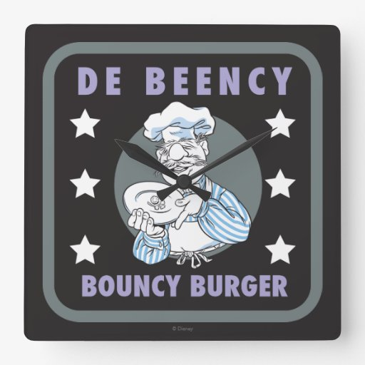 The Muppets | De Beency Bouncy Burger Logo Square Wall Clock