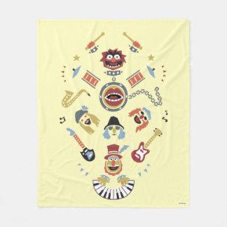The Muppets Electric Mayhem Iconic Shape Graphic Fleece Blanket