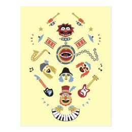 The Muppets Electric Mayhem Iconic Shape Graphic Postcard